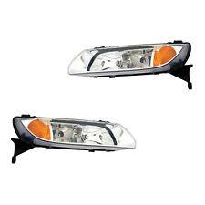 Fits 2000-2002 Saturn L Series Driver + Passenger Headlight Lamp Assembly 1 Pair