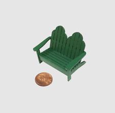 Dollhouse Miniature 1:24  Scale Adirondack Love Seat
