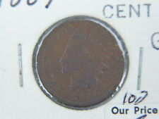 1869 US INDIAN HEAD PENNY 1c COIN G $.01