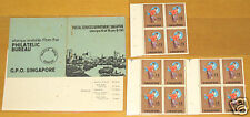 Singapore stamp - first booklet DANCERS MNH rare