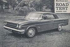 1966 Rambler 770 Vee-8 Convertible Original Autocar magazine Road test