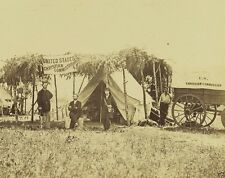 New 8x10 Civil War Photo - US Christian Commission Germantown Virginia 1863