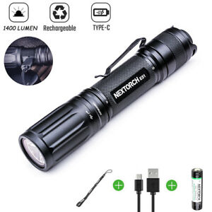NEXTORCH 1400Lumen Type-C Quick Charge Rechargeble Led Tactical Flashlight 18650