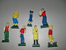 Sunday Funnies, 7 Stand Up Figures; Dick Tracy, 1938 Playstone Mold; Birthdays