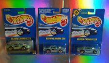 TRIO OF-RARE~BLOWN CAMARO Z28~BLUE CARD-#58-HOT WHEELS-ORIGINAL-HTF-COLLECTORS