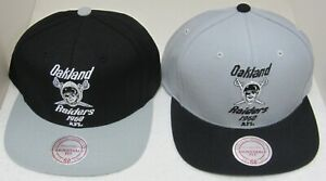 NFL Oakland Raiders Multi-Color Flat Bill Snap Back Hat By Mitchell & Ness