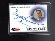 James Bond Mission Logs  Bogdan Kominowski A164 autoraphed card