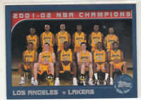 KOBE BRYANT 2002-03 Topps #184 Lakers NBA Champs w/ Shaquille O'Neal Mint
