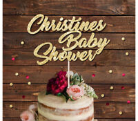 PERSONALISED BABY SHOWER GLITTER CAKE TOPPER, MUM TO BE, BABY ARRIVAL TOPPER