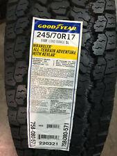 1 New 245 70 17 Goodyear Wrangler AT Adventure w/ Kevlar White Letter Tire
