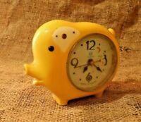 Rare Vintage Alarm Clock Like a pig, Unique Alarm Clock Mechanical. Treasure #86