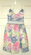 CHILD'S FLORAL 2-PIECE DRESS SET by Hartstrings (100% cotton) <sz 4T>