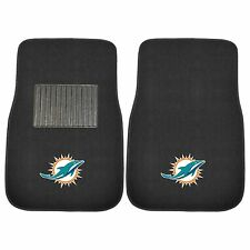 Miami Dolphins 2 Piece Embroidered Car Auto Floor Mats