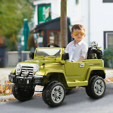 12V Electric Ride On Toy Kids Truck Jeep 2 Speed Lights MP3