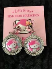 Hello Kitty x Tarina Tarantino Pink Head Collection Wedding Earrings