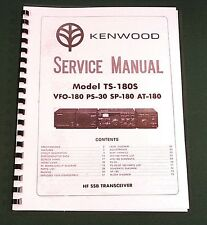 """Kenwood TS-180S Service Manual:w/ 11""""X17"""" Foldouts & Premium Card Stock Covers"""