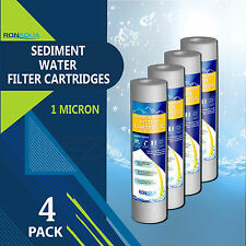 "4 Pack Sediment 1 Micron Water Filters Cartridge 2.5"" x 10"" for Reverse Osmosis"