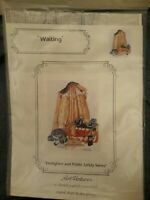 Art Ventures Firefighter Cross Stitch Charts Waiting by Jean Lanning Hero