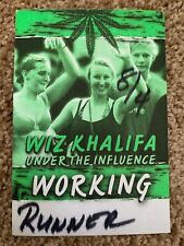 Wiz Khalifa Under The Influence Tour Backstage Pass 2014