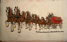 """Nos Vintage Budweiser Beer Clydesdale 8 Horse Hitch Beach Towel 60""""x33"""""""