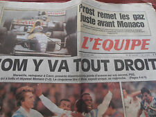 JOURNAL L'EQUIPE / MARSEILLE  / OM /  COUPE DE FRANCE / 10 / 05 / 1993 ( ref c )
