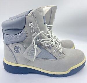 Timberland 6-Inch Waterproof Field Boot Cement Grey Nubuck Men's Boots A1JPJ