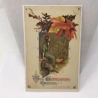 Vintage Postcard Thanksgiving Greetings 1990s Era