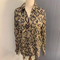 Ladies ARA 100% Pure Silk Blouse Shirt Top SIZE 42- 16