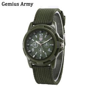 Gemius Army Men's Green Quartz Luminous Sport Military Canvas Strap Wrist Watch