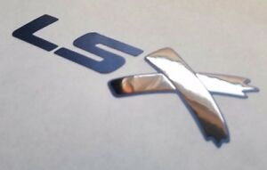 LSX Sticker decal vinyl ls x for chevy GM Black chrome and satin metallic blue