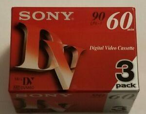 NEW SEALED! 3 Pack of SONY Mini DV 60 min DIGITAL VIDEO Cassette Tapes