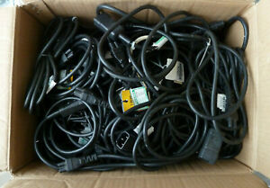 Job Lot 50 x Used IEC Kettle C14 Male to Clover C5 Female Extension Cables