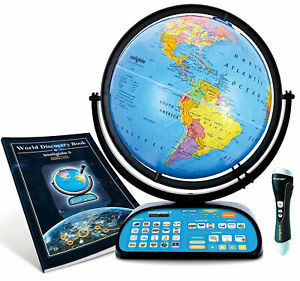Replogle Intelliglobe II - 12-inch Tabletop Interactive World Globe - 39870