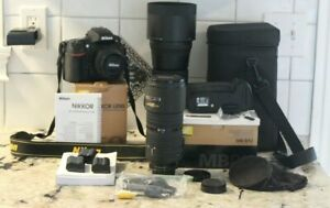 NIKON D800E body,3 batteries+charger,battery back,50mm+sigma 150-600 lens extras