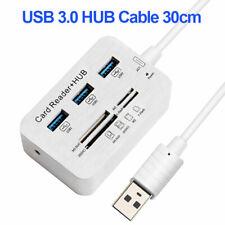 USB HUB 3.0 Multi  Splitter 3 Ports Card Reader Super Speed Multi USB HubQA