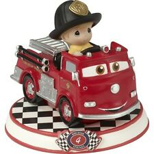 $ PRECIOUS MOMENTS DISNEY Figurine CARS PIXAR MOVIE Fire Truck Firefighter Red