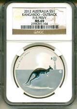 2012 S$1 Australia Kangaroo Outback F15 Privy Mark NGC MS69