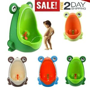 Bathroom Boy Baby Potty Toilet Training Children Kids Urinal Pee Stand frog