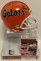 Jordan Scarlett signed Florida Gators mini football helmet. JSA Certified