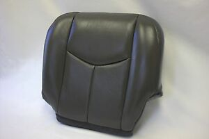 2003 ~ 2006 Silverado Driver Bottom OEM Replacement Leather Seat Cover Dark-Gray