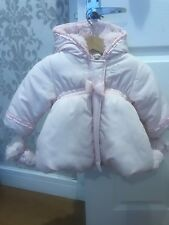 Baby Girls Pink Absorba Coats Age 6 Months