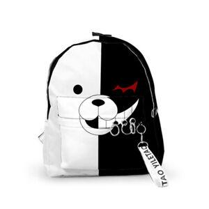 Danganronpa Monokuma Backpack 29*40*12cm 3D Printed Oxford Bag Unisex Schoolbag