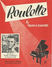 Roulette - Russ Conway - 1959 Sheet Music - Piano Solo