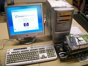 HP DESKTOP PAVILION COMPUTER T3729.UK MONITOR VS17 KEYBOARD GEFORCE VISTA