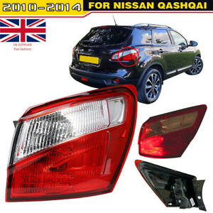 For Nissan Qashqai Rear Light Right Outer Driver Side LED 2010-2014 Tail Lamp