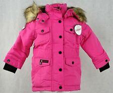 Canada Weather Gear Girls Full-Zip Snap Up Fuchsia Winter Jacket