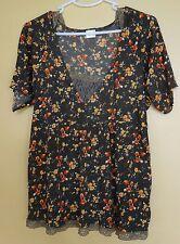 Top Hängerchen Bluse Tunika Vintage Trägertop Gr.40 braun *NEUW*