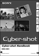 Sony DSC-HX1 Cyber-Shot Handbook Operating Instruction Manual