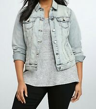 Torrid Fitted Denim Jacket Cape Cod Size 0 AKA 0X L Large 12 #57508