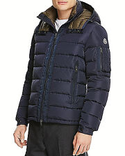 $2300 MONCLER Men BLUE DOWN HOODED AUTHENTIC quilted PUFFER JACKET COAT 5 XL